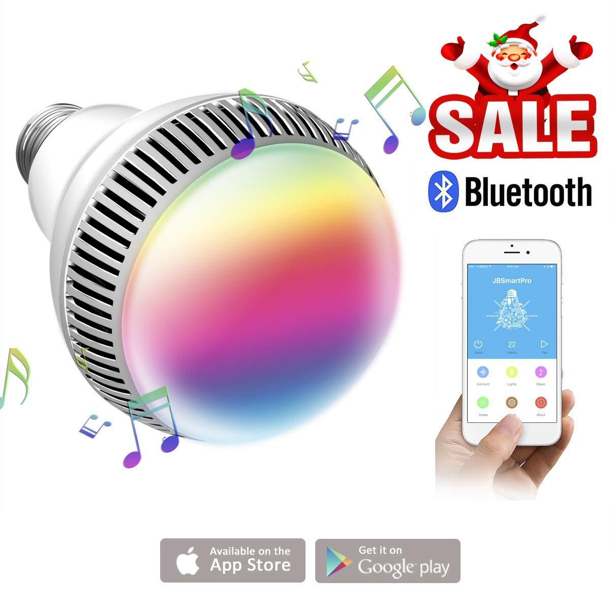 Ampoule connectée, Morpilot Ampoule Bluetooth encenite - Ampoule de couleur avec haut-parleur, Lampe intelligente LED RGB E27 Contrôlée par iPhone/iPad/Appareils Android/Tablette