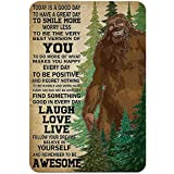 AMELIA SHARPE Tin Sign Vintage Bigfoot Today is a Good Day Suitable for Room Living Room Bar Garage Club Wall Decoration Meta