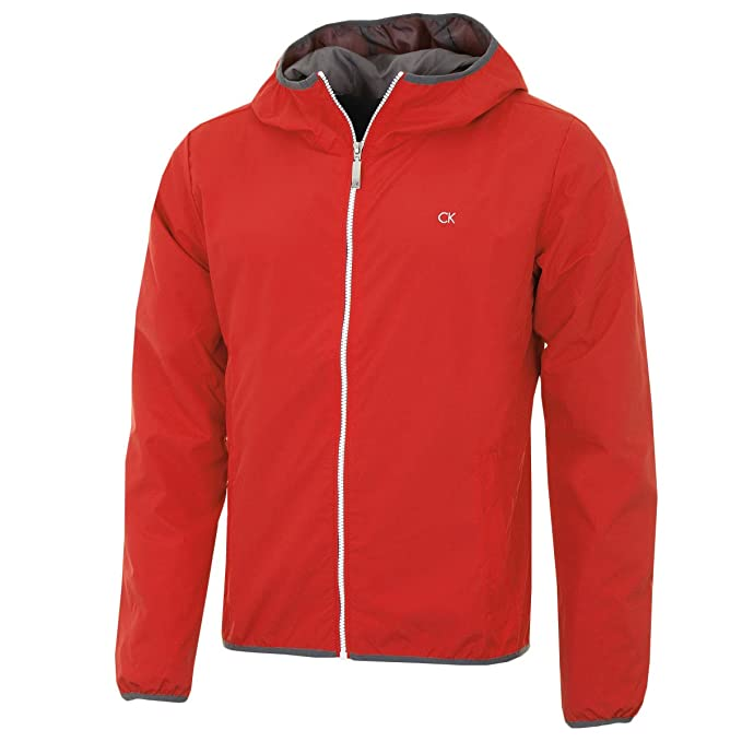 Calvin Klein CK 365 - Chaqueta Cortavientos para Hombre Rojo Rosso X-Large: Amazon.es: Ropa y accesorios