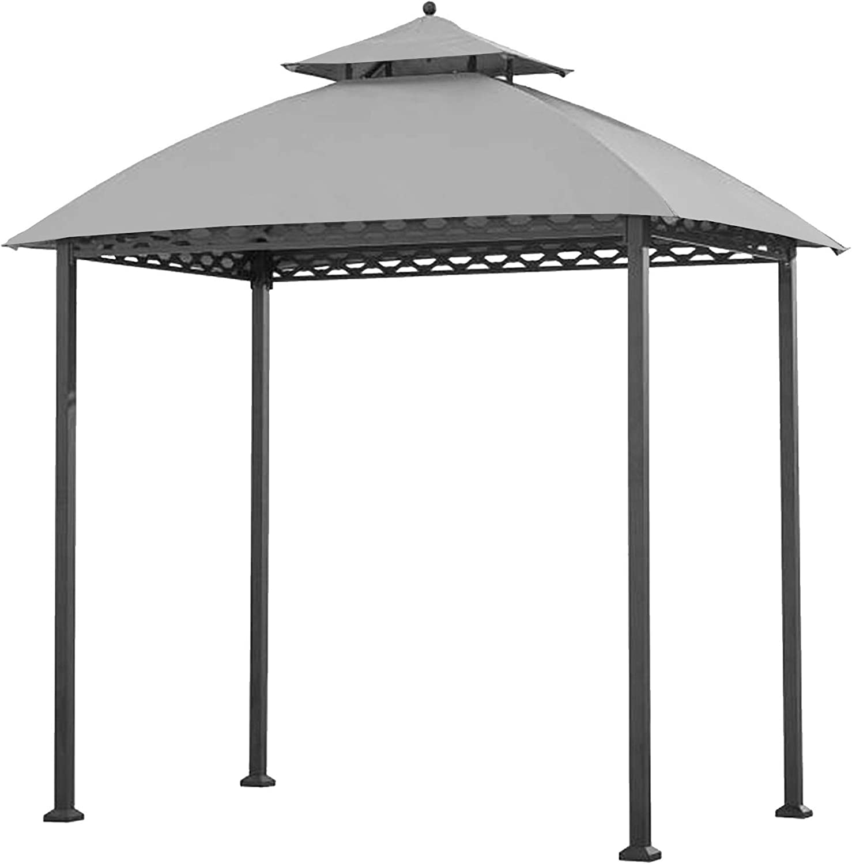 Garden Winds Replacement Canopy for The Pinehurst Grill Gazebo - Riplock 350 - Slate Gray