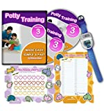 Potty Training In 3 Days - Ultimate Potty Training for Boys. Complete Kit Includes Potty Training In 3 Days Audio Guide, Laminated Potty Training Charts & Blue Potty Time Watch (Blue)