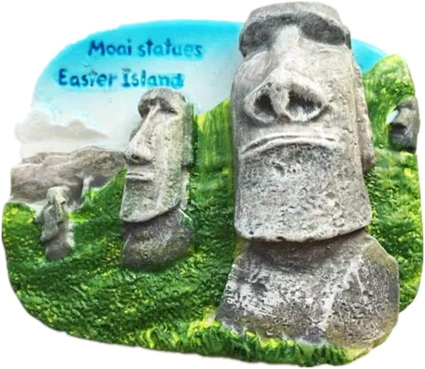 Weekinglo Souvenir Moai Isla de Pascua Chile Imán de Nevera 3D Resina Artesanía Hecha A Mano Turista Ciudad de Recuerdos de Recuerdos Carta de Refrigerador Etiqueta: Amazon.es: Hogar