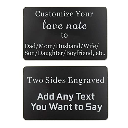a8383e1815b Engraved Wallet Inserts Card Personalized Love Note Gifts for Dad Son  Husband