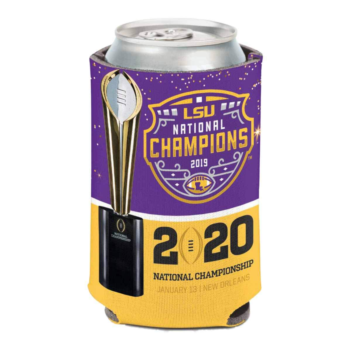 WinCraft LSU Tigers 2019-2020 CFP National Champions Drink Can Cooler