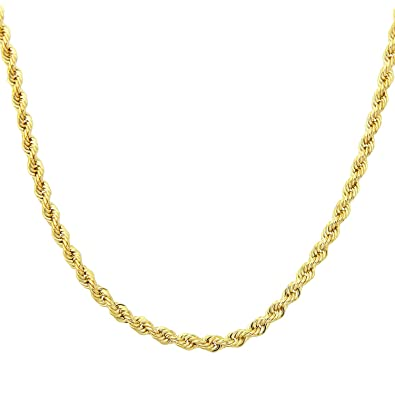 Citerna 9 ct Yellow Gold Rope Chain Necklace of 18 inch/46 cm Length flPC0Dz1