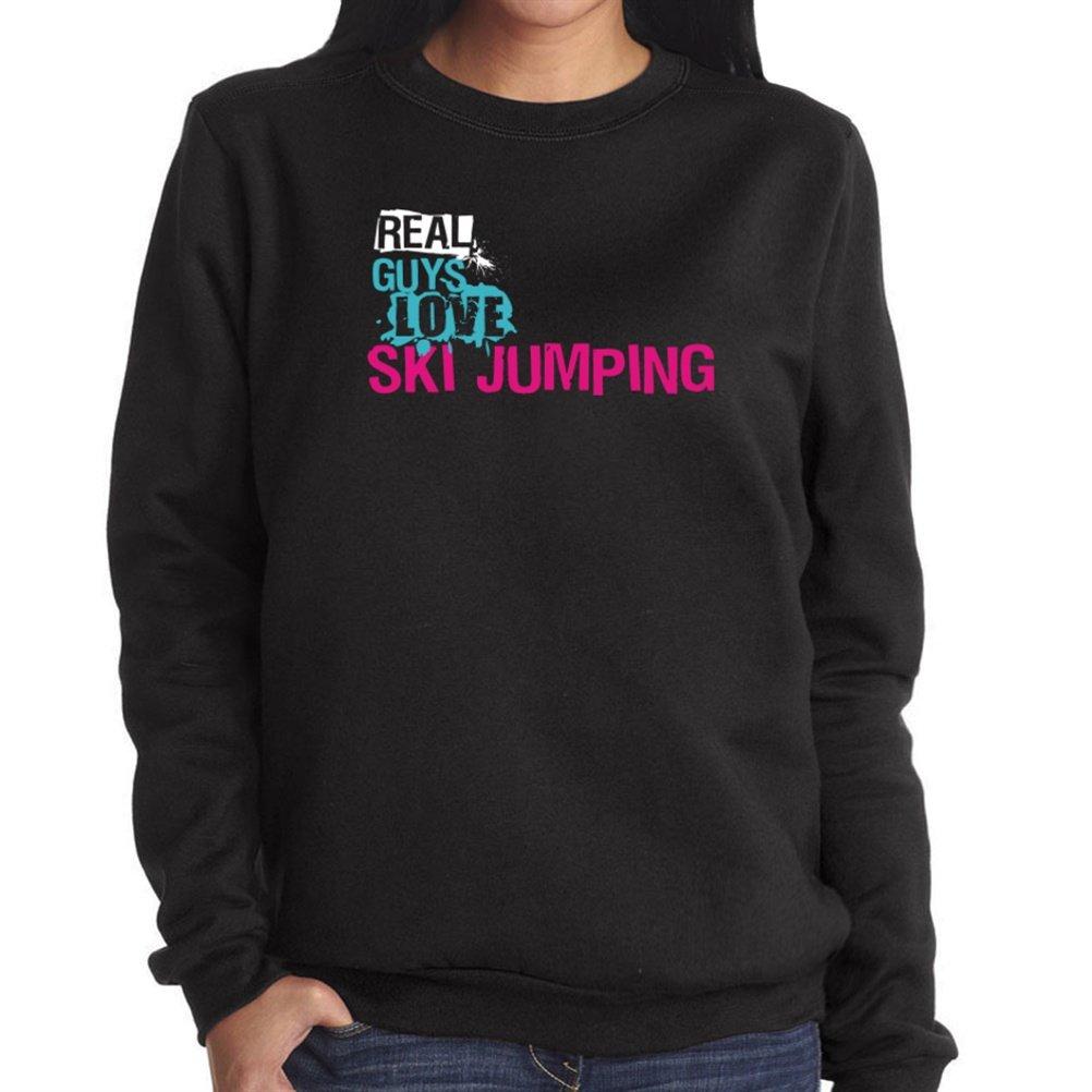 Real guys love Ski Jumping Damen Sweatshirt