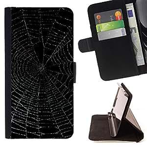 - GLOWING NIGHT SPIDER NIGHT BLACK WEB - - Prima caja de la PU billetera de cuero con ranuras para tarjetas, efectivo desmontable correa para l Funny HouseFOR Sony Xperia Z1 L39