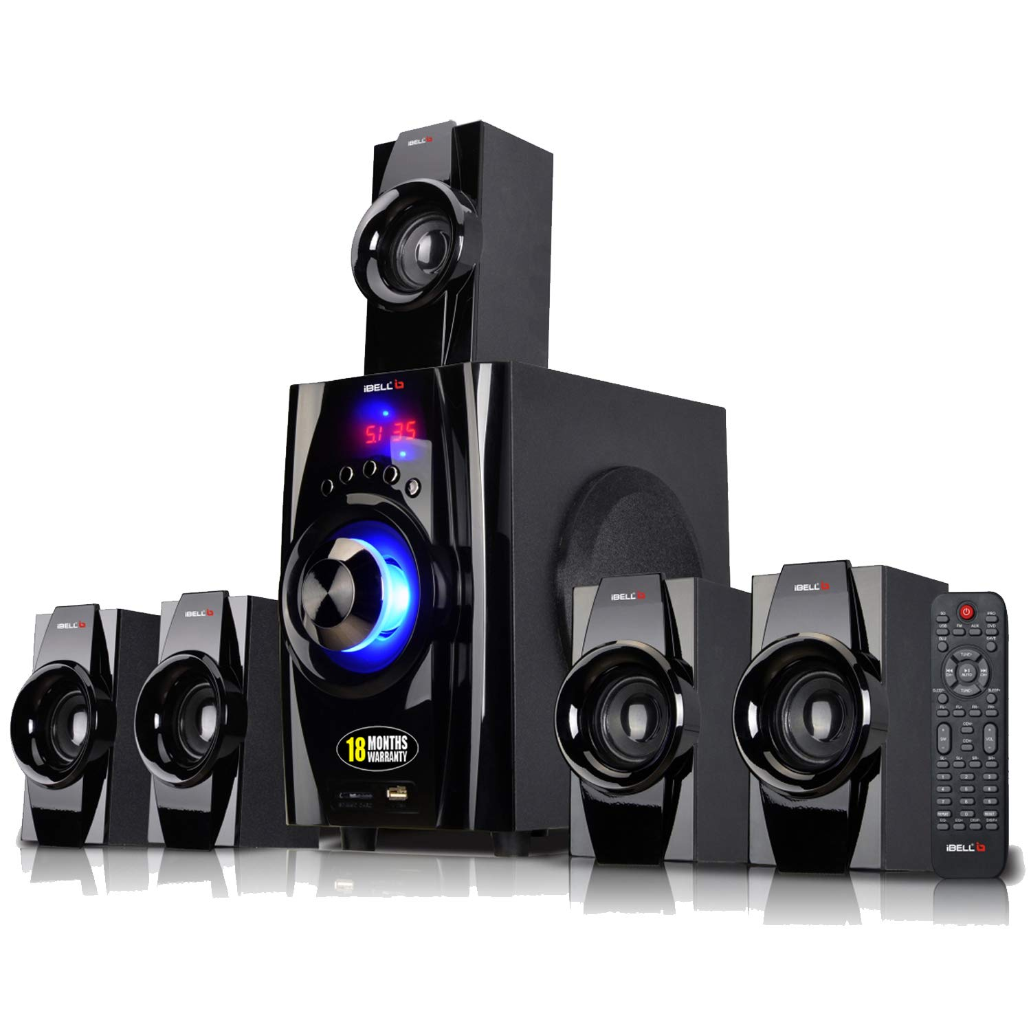 4) iBELL IBL2045DLX 5.1 Home Theatre