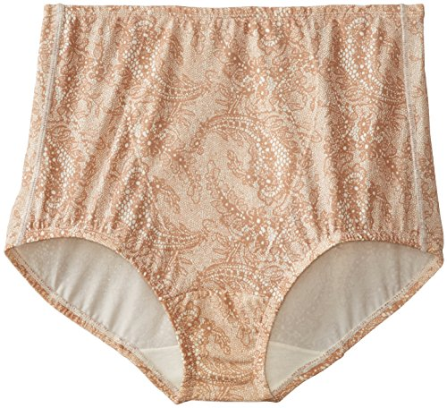 - Olga Women's Without a Stitch Light Shaping Brief Panty Pack of 2, Toasted Almond/Beige, Medium / 6