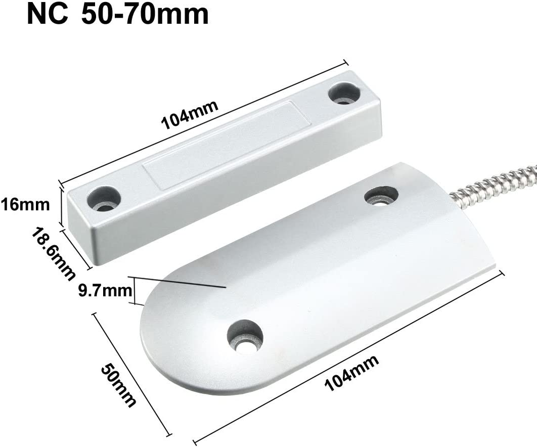 OC-60 NC+No Alarm Rolling Gate Garage Door Contact Magnetic Reed Switch