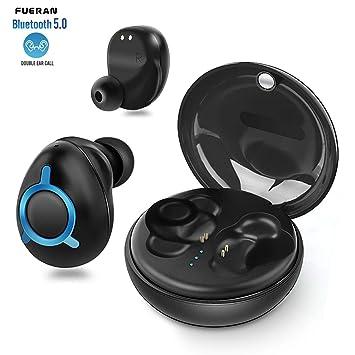 auriculares inalambricos, FUERAN- T06 Los últimos auriculares Bluetooth 5.0 Verdaderos auriculares inalámbricos 15H Playtime