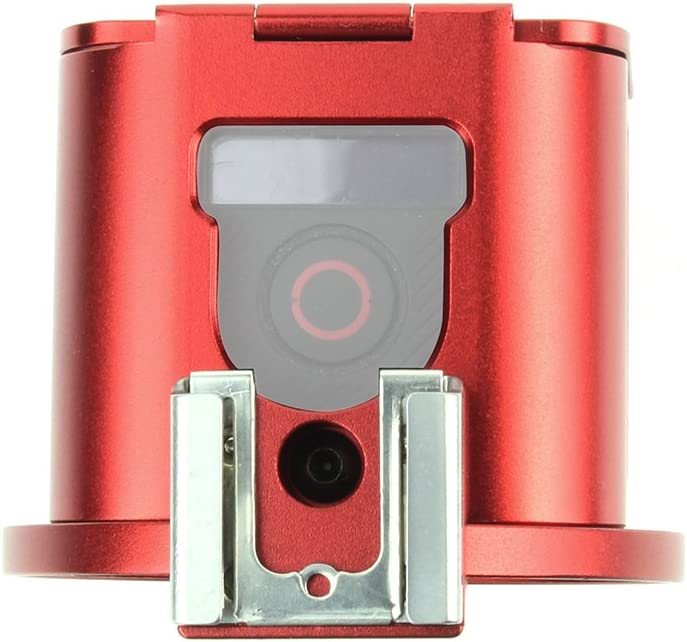 SOONSUN Aluminum Skeleton Case Frame Housing for GoPro Hero5 Session Hero 4 Session Metal Thick Solid Protective Cage Shell with Lens Cap and Mount Screw Wrench Red