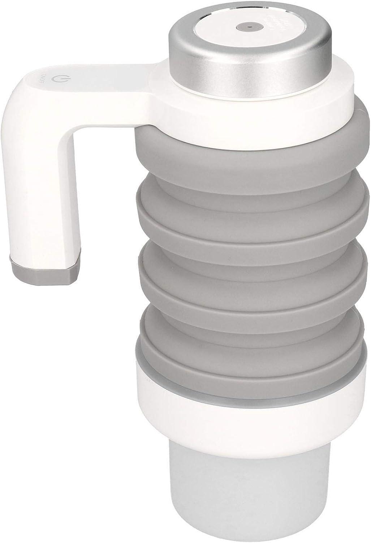 Taza calefactora de Coche de 550 ml y 12 V, hervidor eléctrico Plegable para Coche, Encendedor de Cigarrillos portátil para Coche, Taza de café, hervidor de Agua, Pantalla Digital