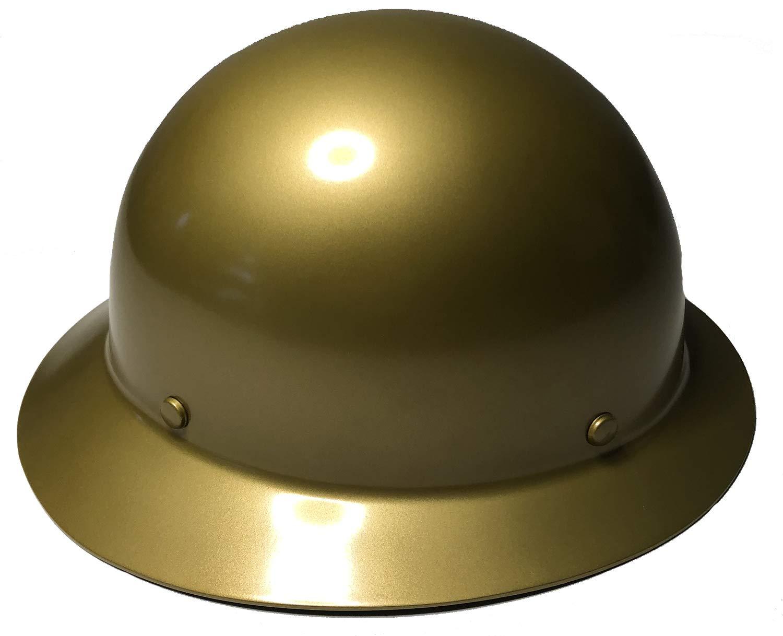 Hard Hat MSA Skullgard Full Brim Custom Gold Metallic Satin by Bag R Buck (Image #3)