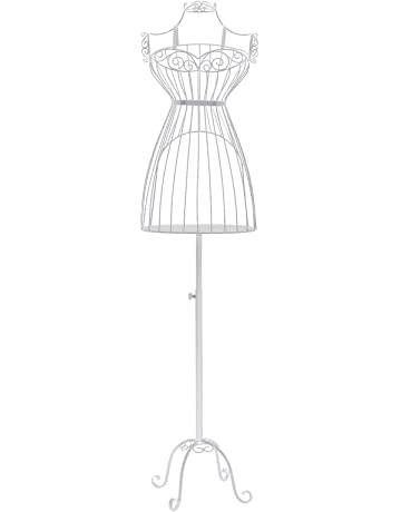 SONGMICS Porte vêtement Mannequin de Couture Buste en Fer Forgé Femme 32917ac2d6c4