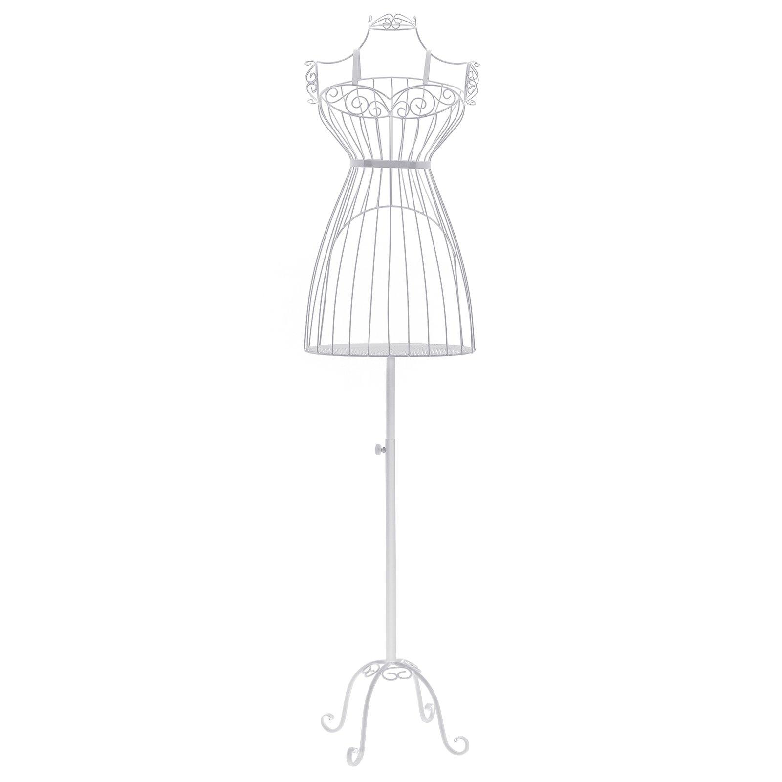SONGMICS Busto de señora para Costura Maniquí de exposición metálico HRA09W product image