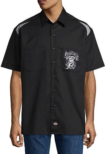 Dickies - Camiseta de trabajo para hombre, diseño de mono de gas Negro Negro gris ahumado. S: Amazon.es: Ropa y accesorios