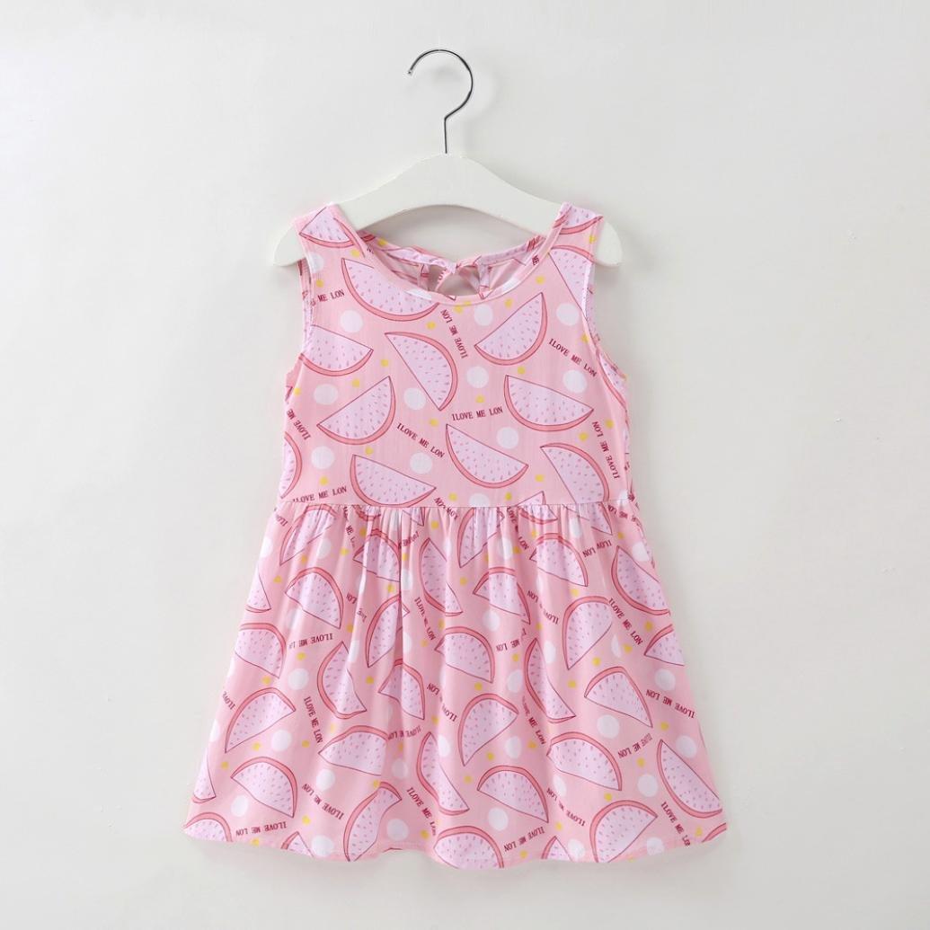 Jarsh Vestido Rosado para Bebé Vestido Niña Creativo Dibujos ...