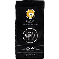 Kicking Horse Coffee, Smart Ass, Medium Roast, Whole Bean, 10 oz - Certified Organic, Fairtrade, Kosher Coffee