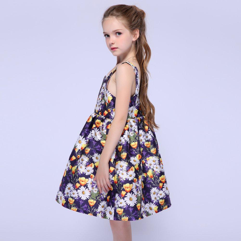 Kseniya Kids Big Little Girls Shoulder Strap Dresses Organza Girl Flower Dress
