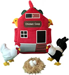 "ADORE 12"" Chicken Coop Farm House Stuffed Animal Plush Playset"