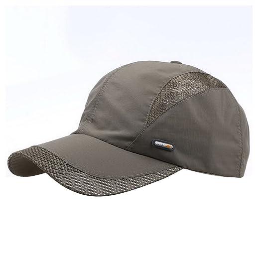 b9969d7ae85 Men s Baseball Cap Polo Style Classic Sports Casual Plain Sun Hat Army Green