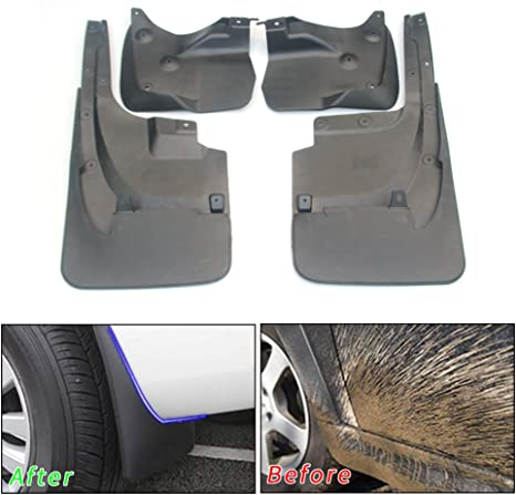 4pcs Plastic Mudguard Tire Splash Guards Mud Flaps For Toyota Camry 2012-2014
