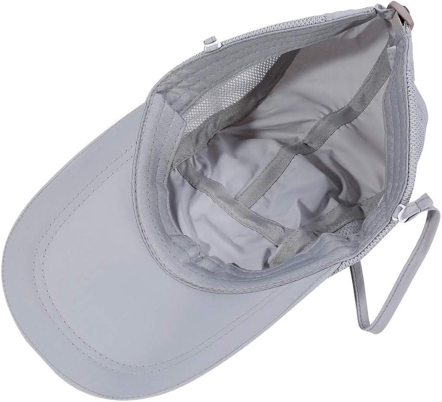VGEBY1 Gorra de Protecci/ón Solar Anti-UV Sombrero Pesca del Sol Gorra al Aire Libre de Protecci/ón Solar Transpirable Cap Sombrero de ala Ancha Protecci/ón UV Protege Cuello Cara para Hombre Mujer