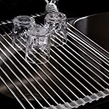 Roll-Up Dish Drying Rack, Stainless Steel, 20-1/2 L x 13-1/8 W x 1/4 H by THETIS Homes