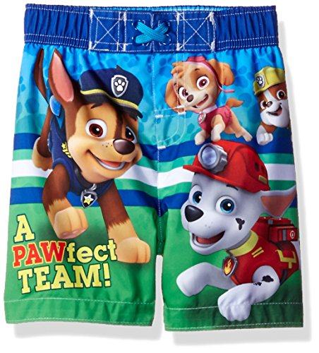 Nickelodeon Toddler Boys' Paw Patrol Swim Trunk, Blue, 3T (Joker Suit For Sale)