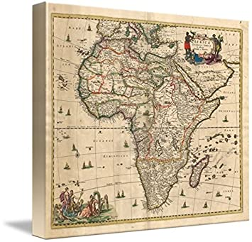 6a6caee8c3 Image Unavailable. Image not available for. Color  Imagekind Wall Art Print  Entitled Vintage Map of Africa ...