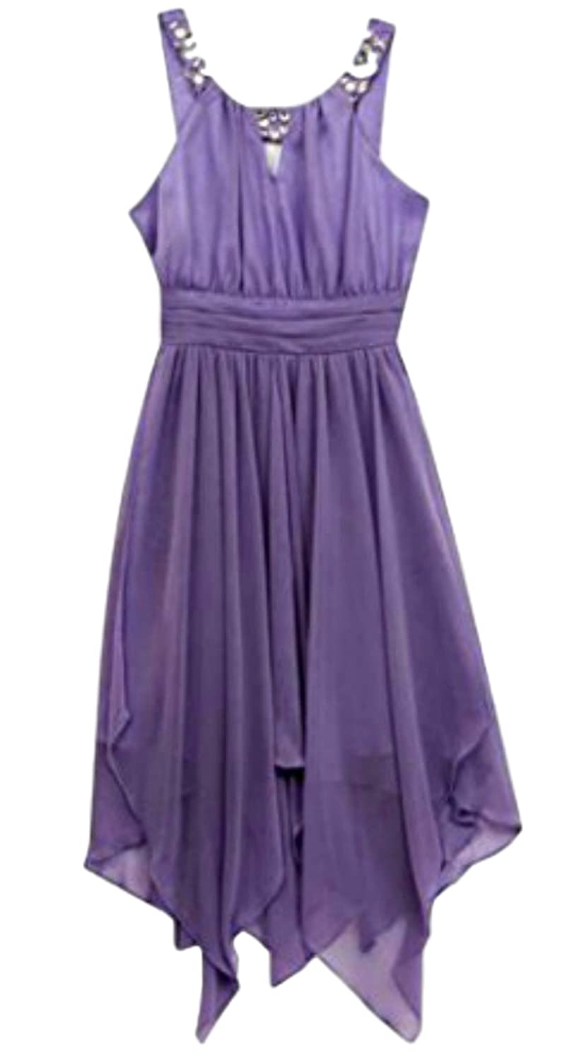 ef8312945d5 Amazon.com  Tween Diva Lilac Shirred Party Dress  Clothing