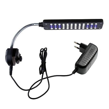 NICREW LED de Luz de Acuario Luces de Planta Acuática con Potente Clip Luz Azul y