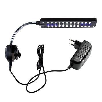 NICREW LED Luces para Acuario Clip, 48 LED Acuario Peces Tanque Abrazadera Clip Lámpara Luz