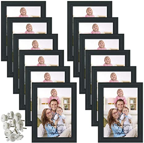 Black 13 x 22 Wall Hanging Wood Puzzle Piece Photo Frame