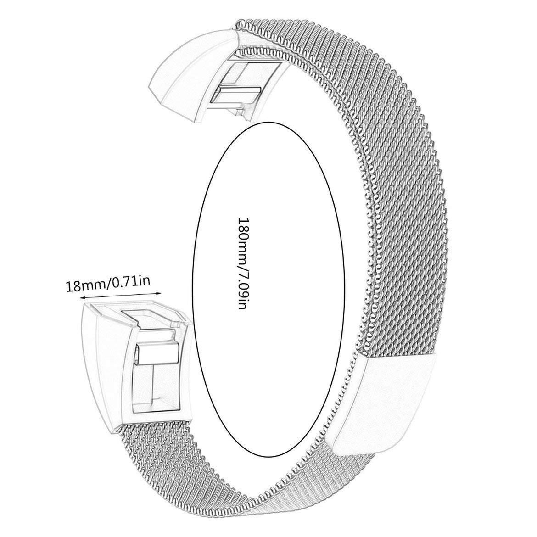 JohnJohnsen para Fitbit Ace Smart Pulsera para ni/ños Correa milanesa Alta HR Pulsera de Bucle magn/ético Rosa Rosa
