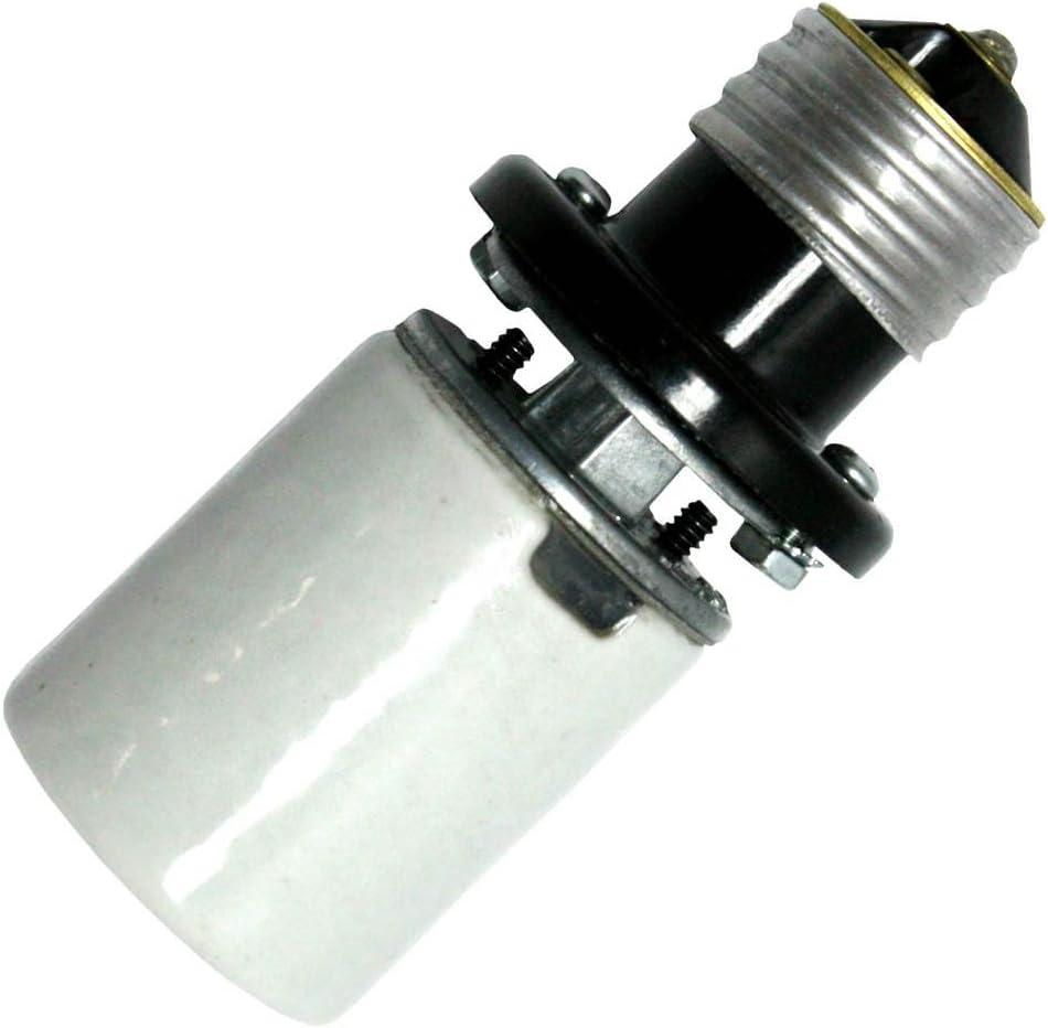 Base Socket Extender General 00625 E26 Extends Bulb 5.25 6.25IN MED SKT EXTENDER Medium Screw