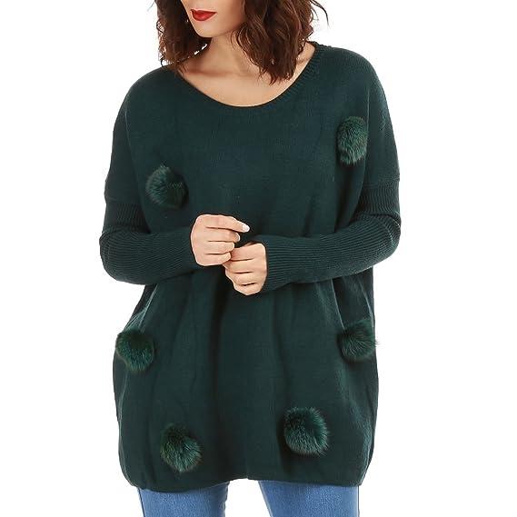 La Modeuse - Pull Long et Ample Femme  Amazon.fr  Vêtements et ... ca7068bfea04