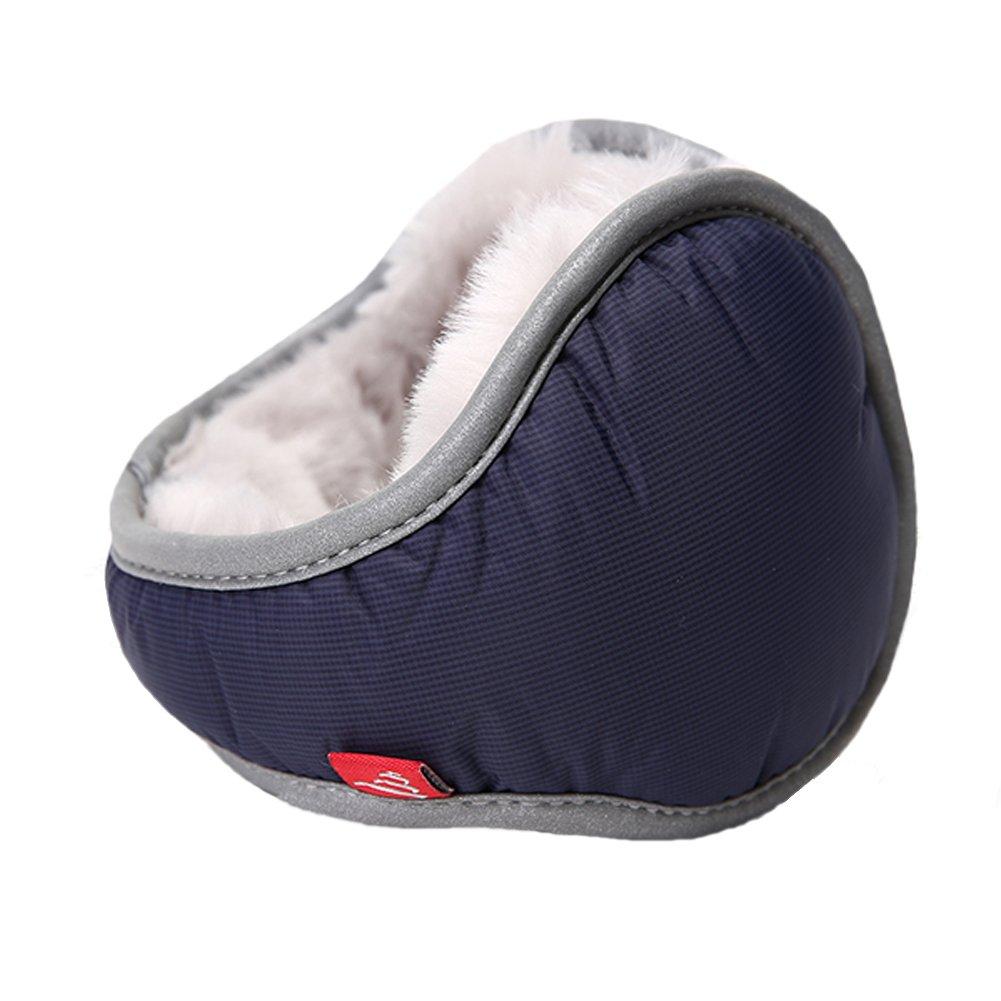 Leories Waterproof Ear Warmer Unisex Foldable Ear Warmers Polar Fleece Winter Earmuffs Dark Blue