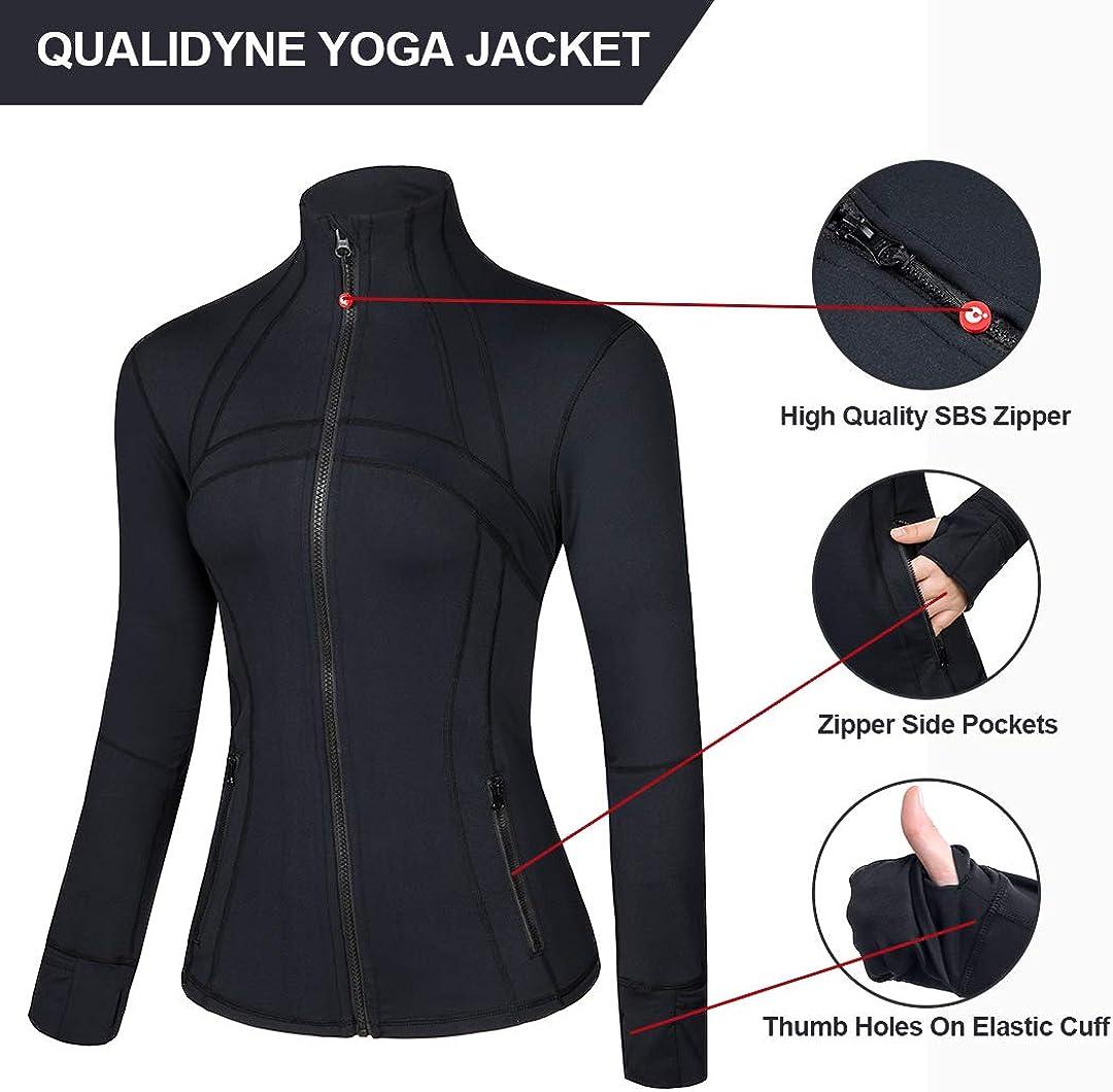 Amazon.com: Qualidyne - Chaqueta de yoga para mujer, ligera ...