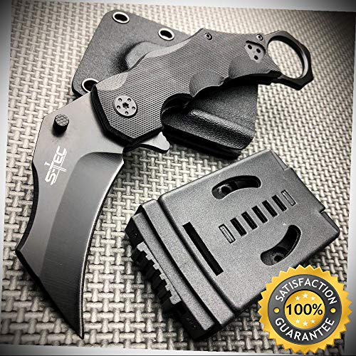 Karambit Claw Folding Pocket Knife with Hard Sheath Quick Release - Outdoor For Camping Hunting