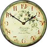 Roger Lascelles French Vineyard Wall Clock, 14.2-Inch