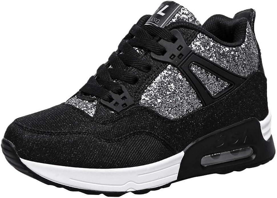 POLP Calzado Zapatos con Cordones Mujer Zapatillas Running para Hombre Aire Libre y Deporte Transpirables Invierno Casual Zapatos Gimnasio Correr Sneakers Rojo Negro 35-43: Amazon.es: Zapatos y complementos