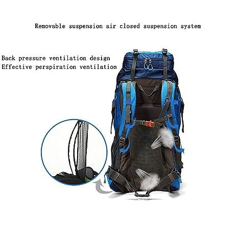MOREJUN Senderismo Mochila, 70LMochila de montañismo Escalada al Aire Libre Viaje Deportes Mochila Mochila de Trekking con Cubierta Impermeable,Blue: ...
