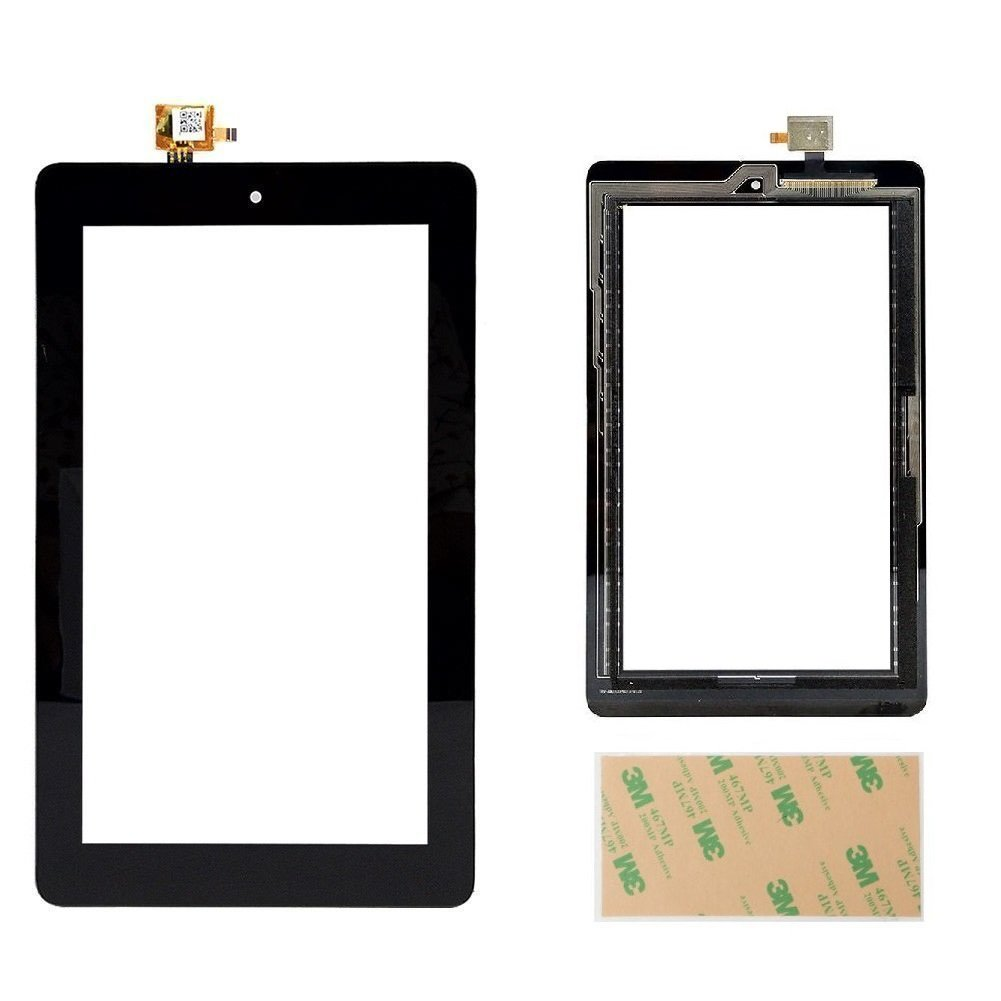 Touch Screen Digitizer Replacement Part for Fire 7 (5th Generation 2015 Release SV98LN) with Adhesive, NO LCD, NO Instructions(NOT for 7th Gen, 2017 SR043KL release & 5th kids edition)