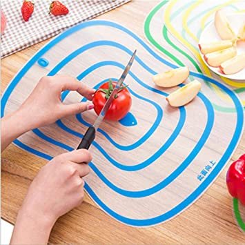 4 Pcs/Lot Flexible Kitchen Plastic Chopping Block Cutting Board Non-slip Frosted Antibacteria