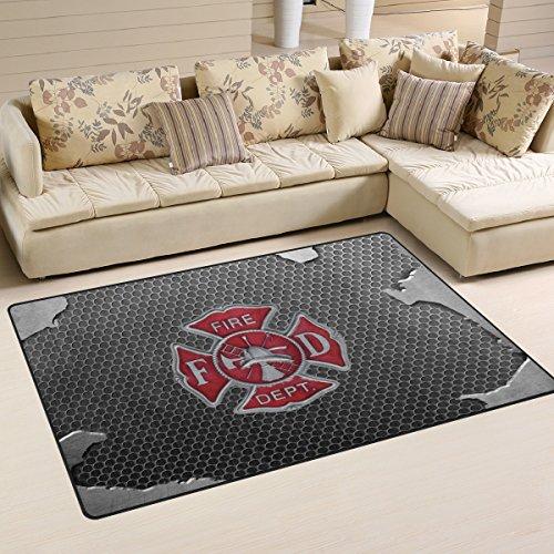 - Abbylife Fire Department Logo Firefighter Doormats Floor Mat 31