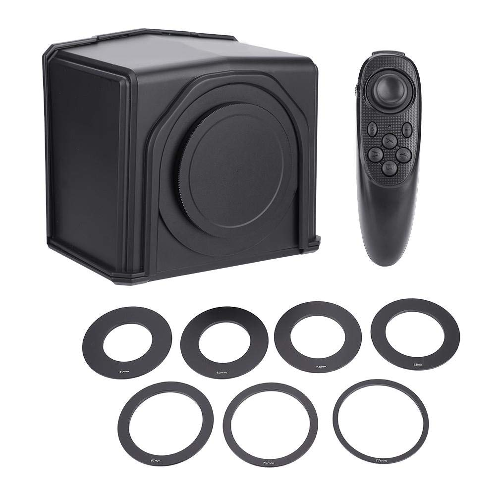 Mini Teleprompter, Portable Lghtweight Smart Phone Teleprompter with Lens Adapter Rings Kit for Interview Speech TV Show by Taidda