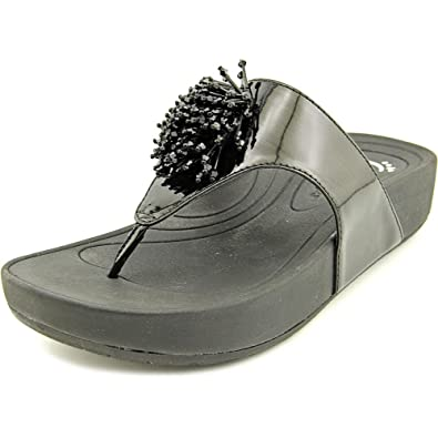 New Trendy Baretraps Denna Open Toe Synthetic Gray Thong Sandal Grey For Women Outlet