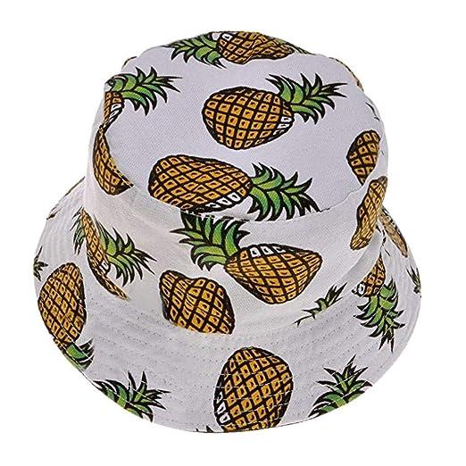 Cubo Exterior Sombrero Unisex Estampado de Flores Gorra Ajustable ...